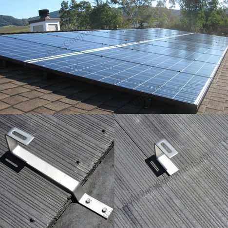 flat tile roof mounted for solar panels