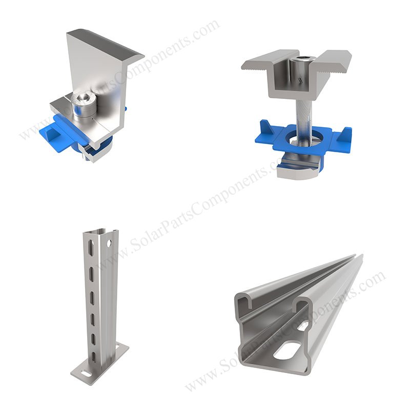 solar carbon steel ground mounting system hardware