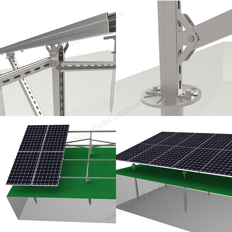 ground solar panel mounts carbon steel
