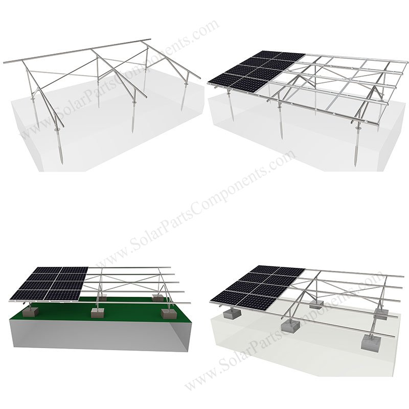 solar racking ground mount for carbon steel