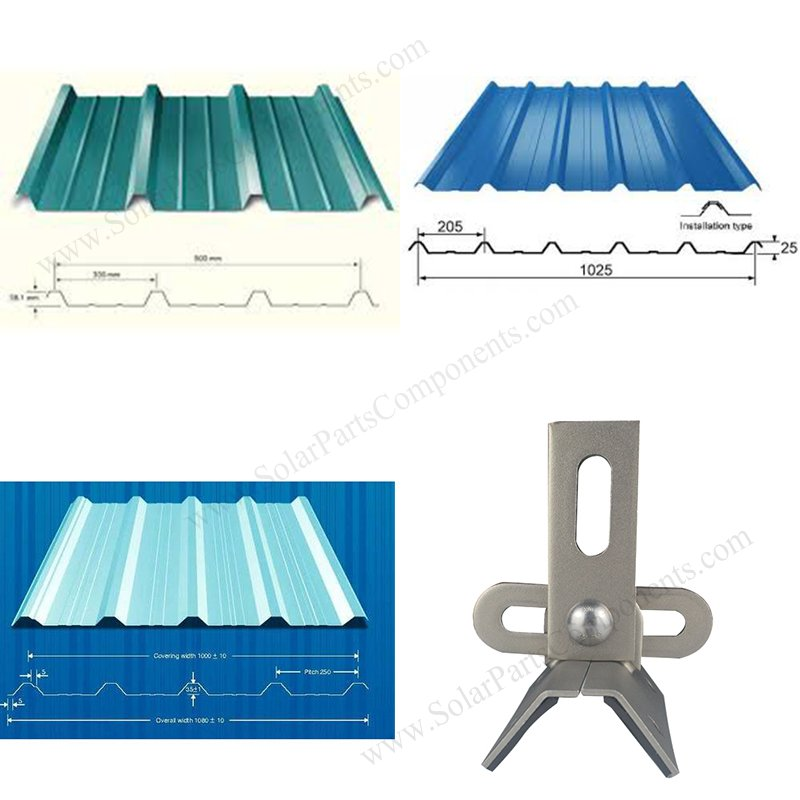 universal clamps for trapezoidal metal roof