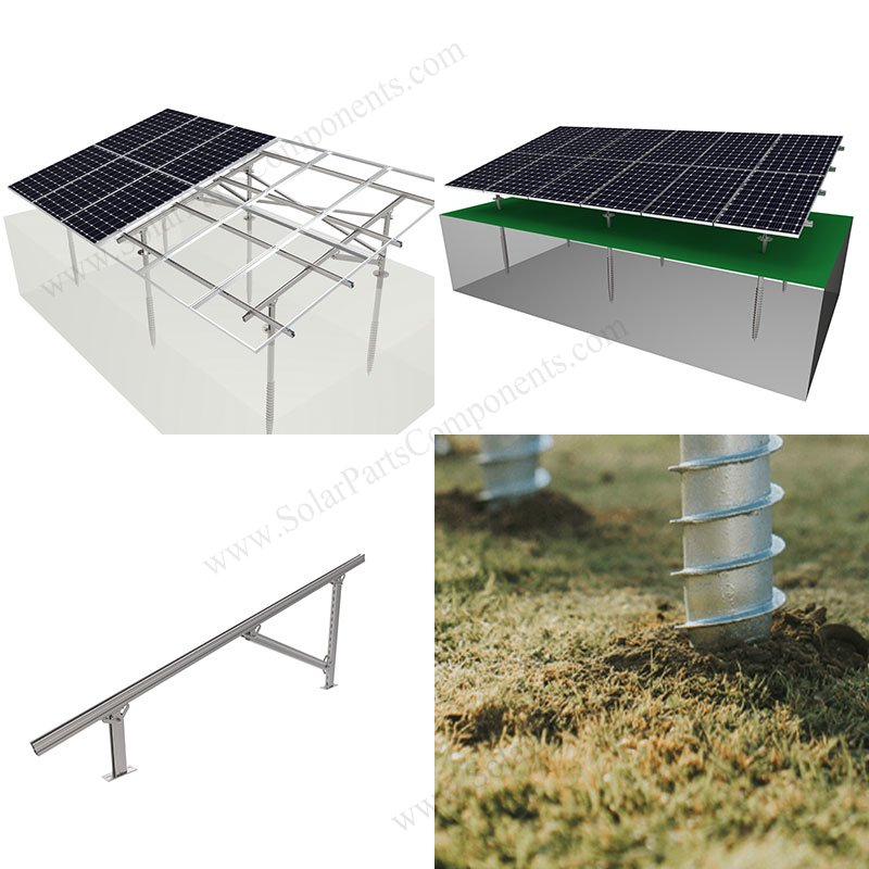 ground screw for solar mounting
