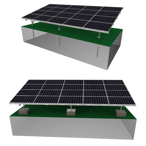 solar ground mounting system for carbon steel