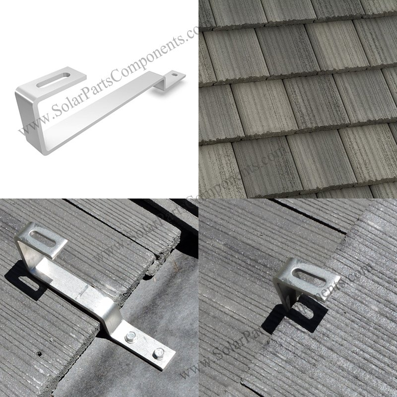 Flat tile roof mounting