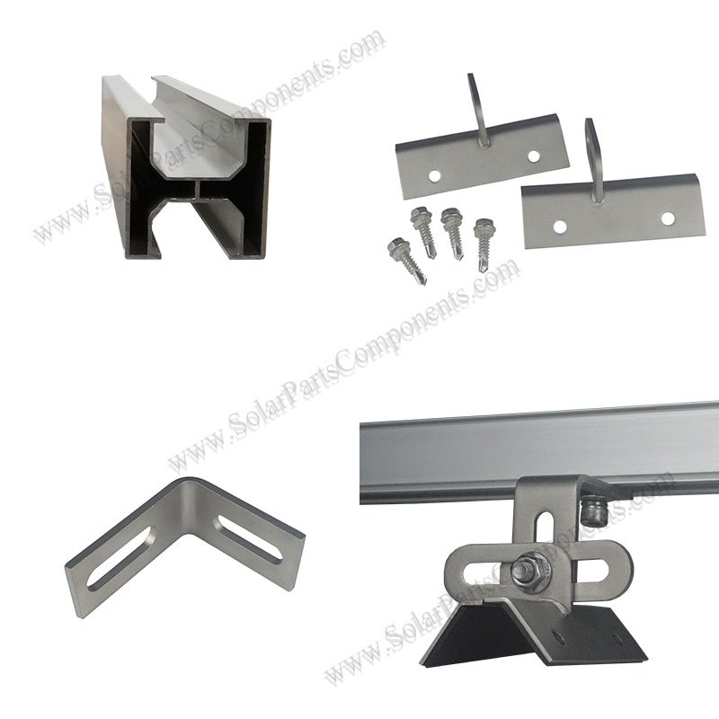 trapezoid solar panel mounts for metal roof