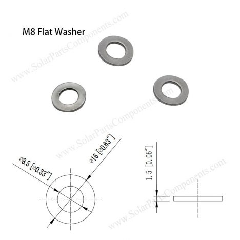 Flat Washers for M8