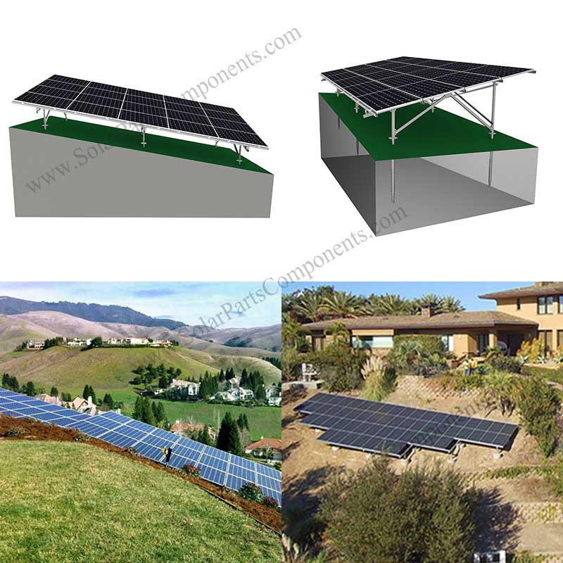 ground mount solar on slope