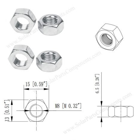 hex nuts M8