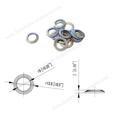 serrated lock washer m8