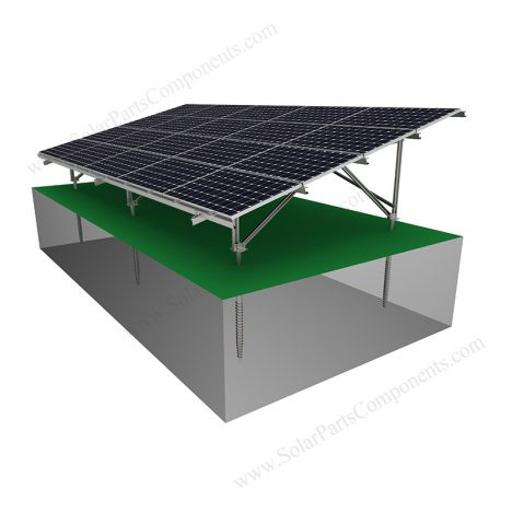 Solar Ground Racking System-Carbon Steel-W Type-2