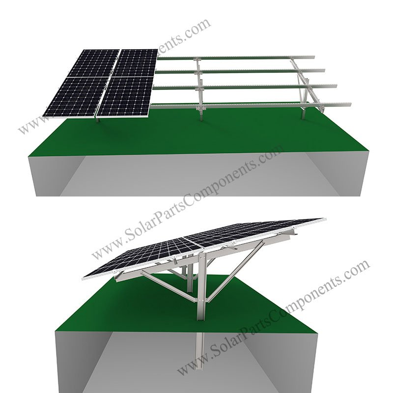 ground racking system for solar panel