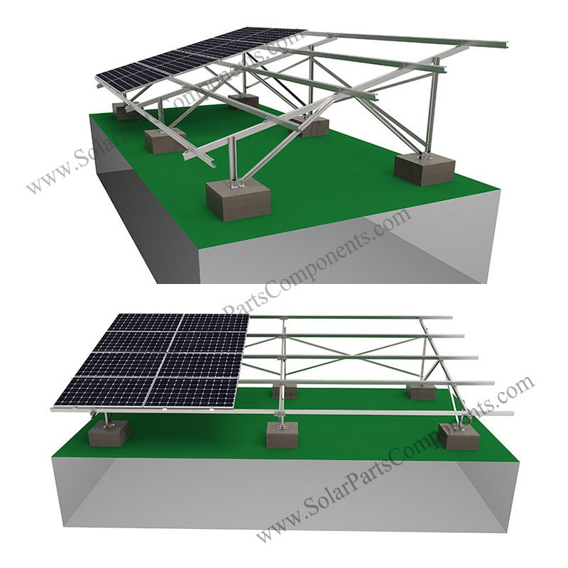solar panel ground mounting brackets carbon steel
