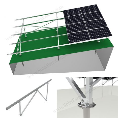 aluminum solar ground mount slope