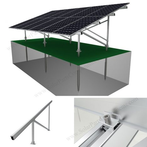 solar panel ground mounting system, SPC-GA-2V-N