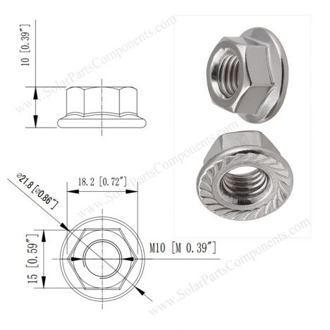 serrated flange nuts M10