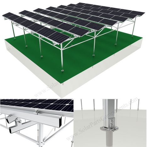 greenhouse solar mounting system