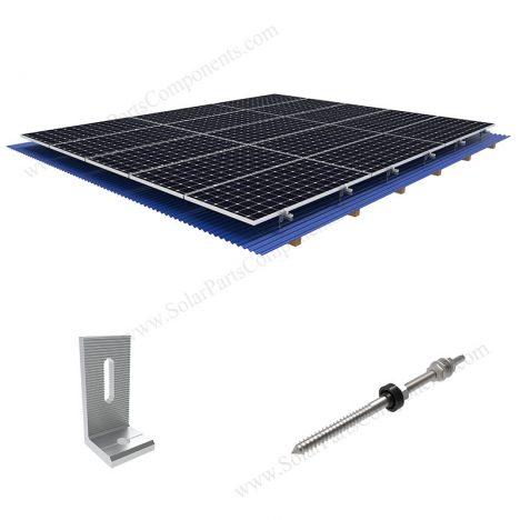 L feet bracket, M10 hanger bolt solar roof mounts