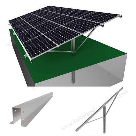 PV ground mounting system pole