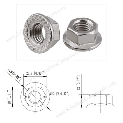 serrated flange nuts M12