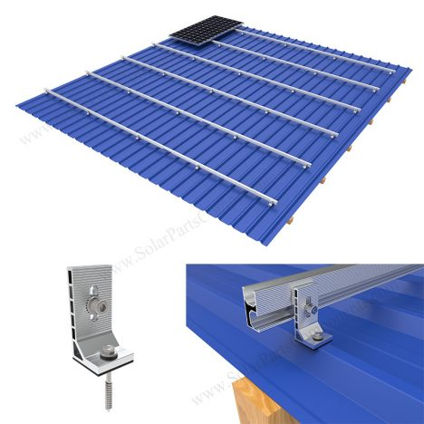 L feet bracket solar roof mounting system