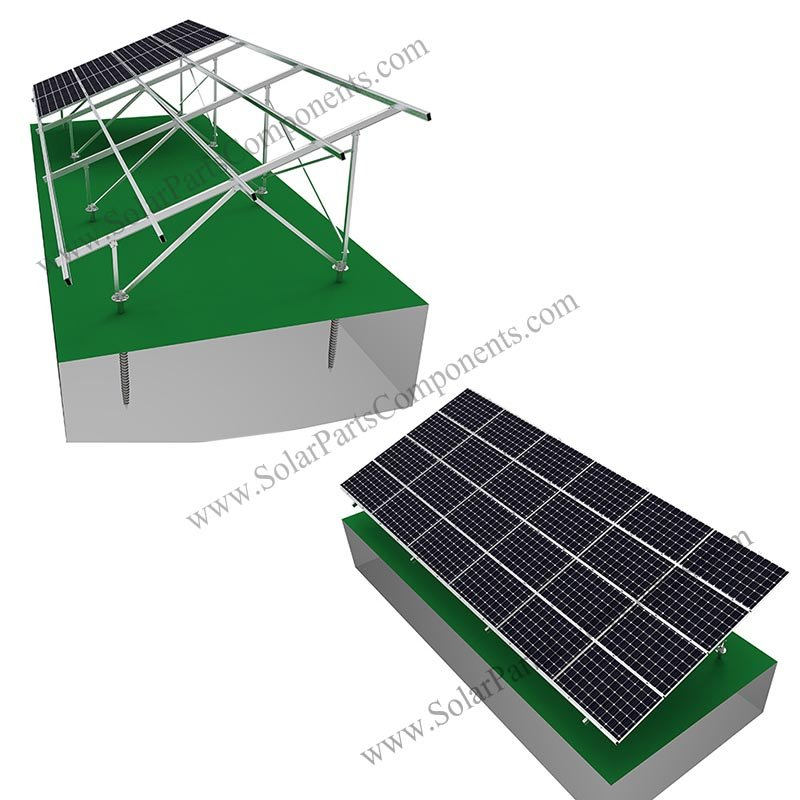 aluminum PV ground mounting system