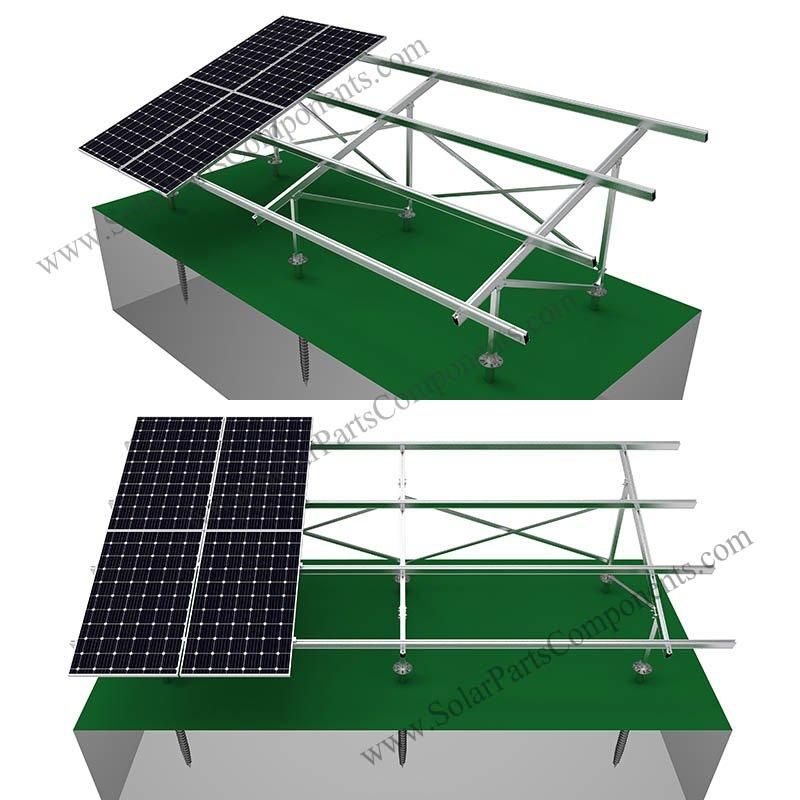 ground racking system aluminum alloy