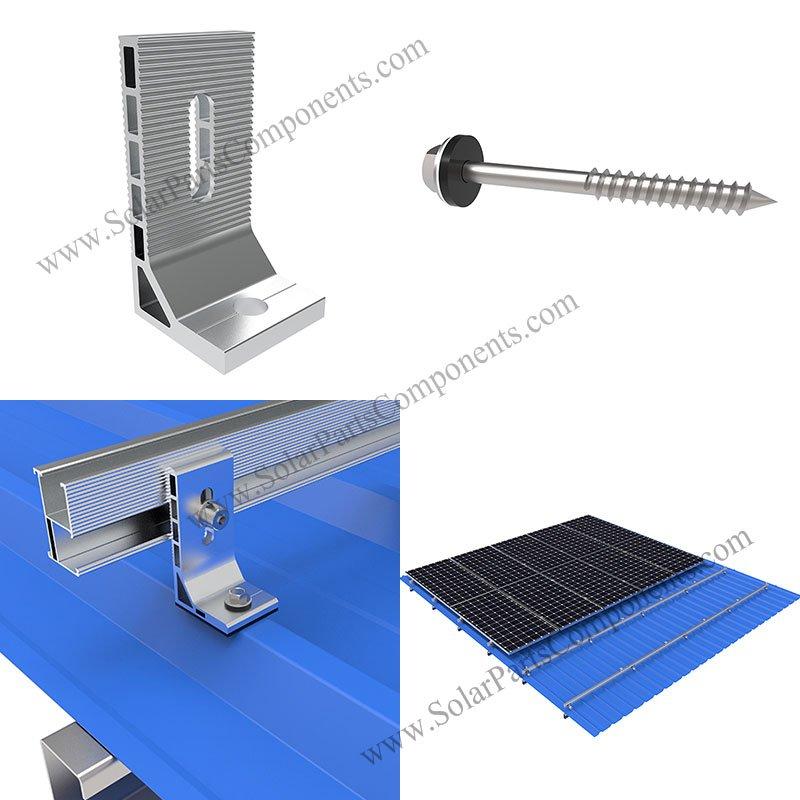 L feet bracket for solar metal roof
