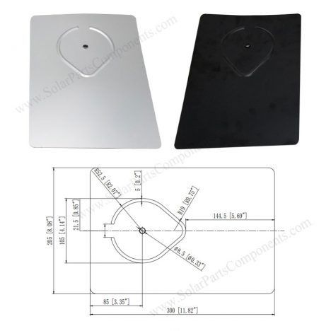 aluminum flashing for solar panel roof mounting system