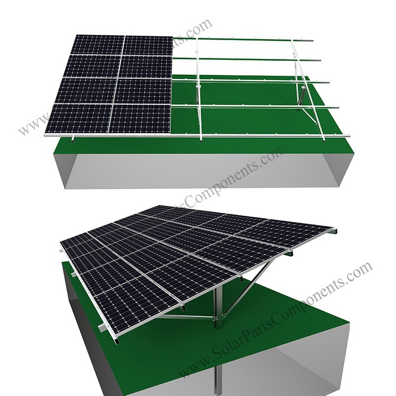 aluminum ground mount solar racking