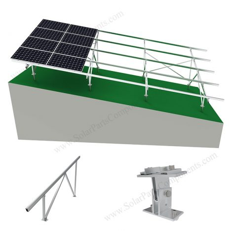 solar panel ground racking for slant places
