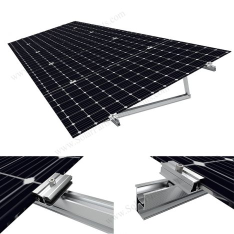 flat roof solar mounting bracket for bifacial solar panels