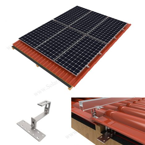 solar roof mounting kits with tile hooks