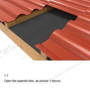 Solar Tile Roof Hooks Installation-SPC-IK-03-1.1