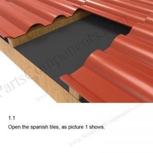 Tile roof hook #06 installation