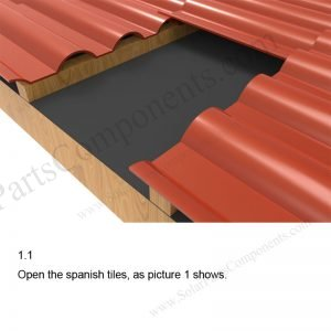 Solar Tile Roof Hooks Installation-SPC-IK-07-1.1