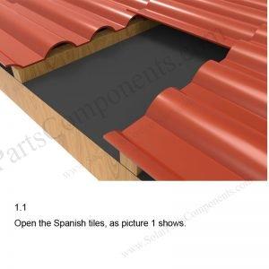 Solar Tile Roof Hooks Installation-SPC-IK-15-1.1