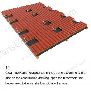 Solar Tile Roof Hooks Installation-SPC-RF-IK02-DR-1.1