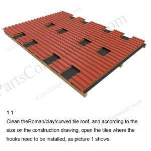 Solar Tile Roof Hooks Installation-SPC-RF-IK03-DR-1.1