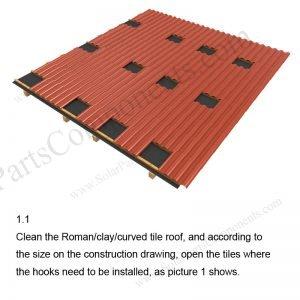 Solar Tile Roof Hooks Installation-SPC-RF-IK04-DR-1.1