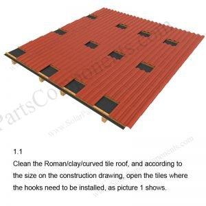 Solar Tile Roof Hooks Installation-SPC-RF-IK05-DR-1.1
