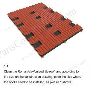 Solar Tile Roof Hooks Installation-SPC-RF-IK06-DR-1.1