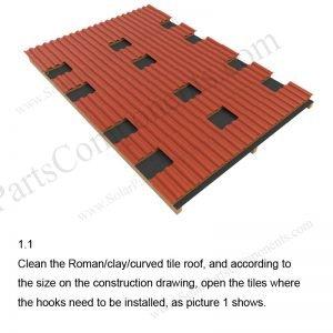 Solar Tile Roof Hooks Installation-SPC-RF-IK07-DR-1.1
