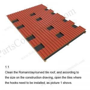 Solar Tile Roof Hooks Installation-SPC-RF-IK08-DR-1.1