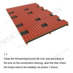 Solar Tile Roof Hooks Installation-SPC-RF-IK09-DR-1.1