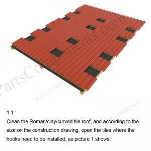 Solar Tile Roof Hooks Installation-SPC-RF-IK10-DR-1.1