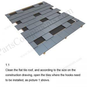 Solar Tile Roof Hooks Installation-SPC-RF-IK11-DR-1.1
