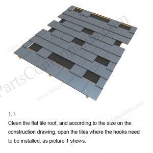 Solar Tile Roof Hooks Installation-SPC-RF-IK12-DR-1.1