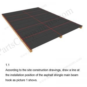 Solar Tile Roof Hooks Installation-SPC-RF-IK13-DR-1.1