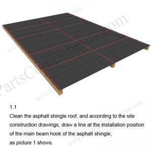 Solar Tile Roof Hooks Installation-SPC-RF-IK14-DR-1.1