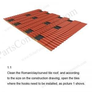 Solar Tile Roof Hooks Installation-SPC-RF-IK15-DR-1.1